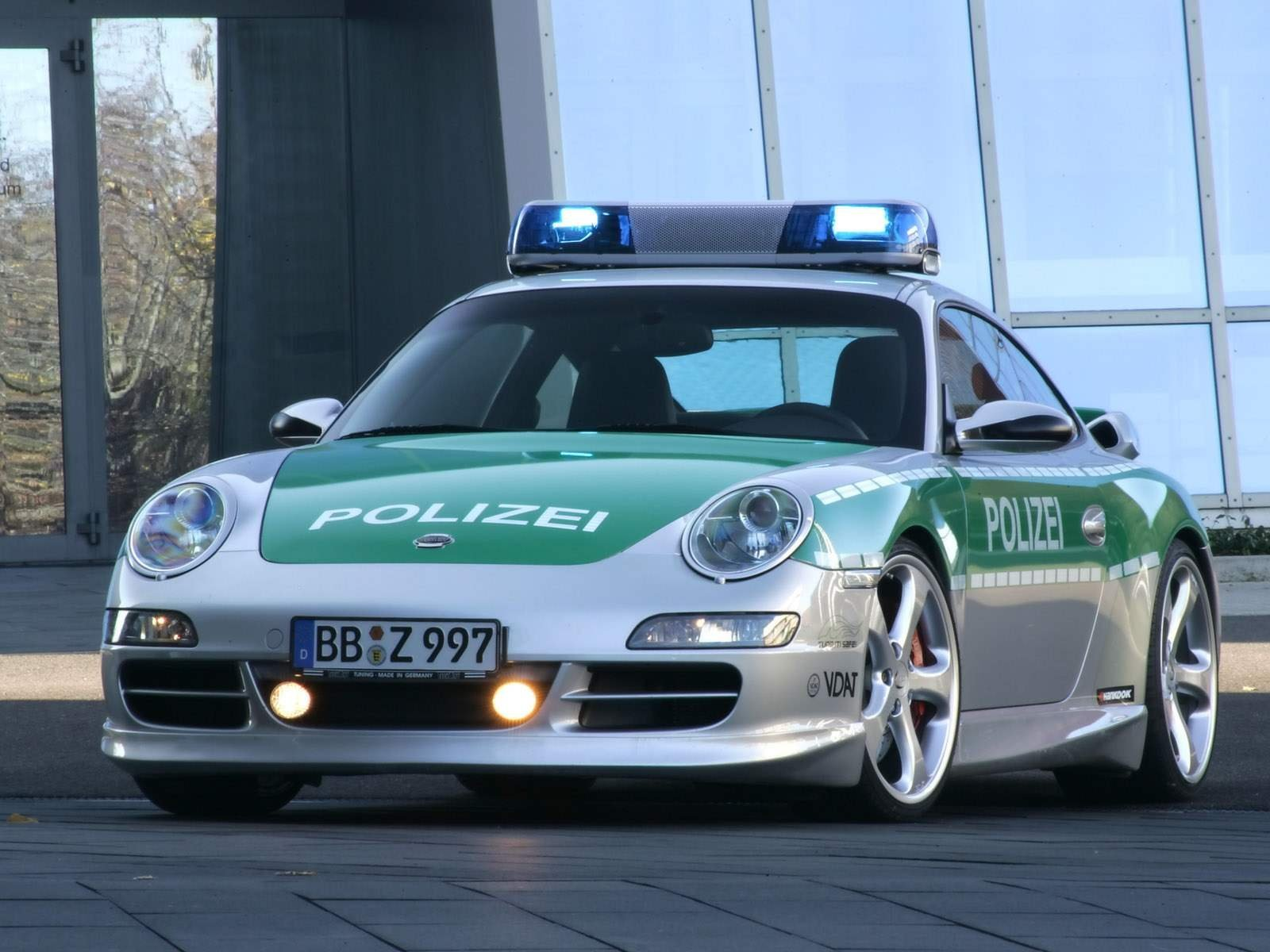 German Police Cars Autobahn